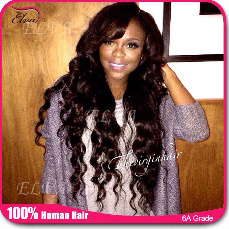 Cheap African American Human Hair Wigs 121