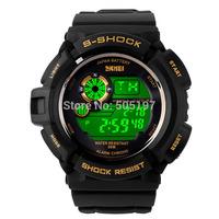 50 meters diving waterproof wristwatch shock resistant digital running watch PU strap colorful EL backlit casual women men steel