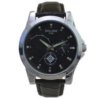fashion black quartz luxury man watch 2015 new moon phase decoration japan Luminous hand Wristwatch top unisex waterproof hour