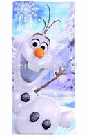 140*80 CM. Frozen bath towel, Children's beach towels, Cartoon towels. Frozen OLAF. Free Shipping!
