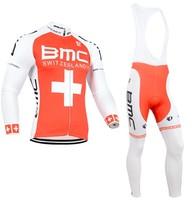 2014 Men BMC Ropa ciclismo long cycling jersey Bicycle bicicleta mountain bike maillot shirt clothing (bibs) pants set