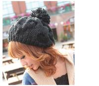 Free-Shipping-2014-Winter-Hats-For-Women-Black-Warm-Twist-Knitted-Hat-Fashion-Beanies-Women-Winter