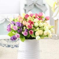 10pcs/lot 15 heads rose Artificial flower silk flower rustic decoration flower for wedding decoration home