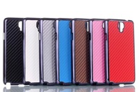 10pcs/lot N7505 Carbon fiber pattern mobile phone Case for Samsung Galaxy Note 3 N7505 Newest hard back cover Phone Shell