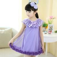 Aones Summer Girl Dresses Flower Party Tutu Dress Kids Clothes Lace&Net Children's Princess Floral Dress Vestidos Infantis DS158
