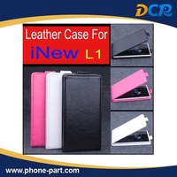 Free Shipping Open Up and Down PU Leather Case for iNew L1 , iNew L1 leather case,3colors in stock