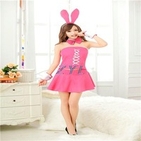 Pink dress uniforms bunny rabbit Christmas party dress Cheerleading Uniforms factory direct proxy No. 1635