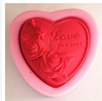 Rose Love for ever Silicone Soap mold Craft Molds DIY Handmade soap mould
