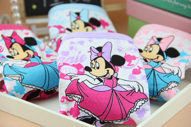 New cartoon children's underwear cotton Minnie baby girls panties kids princesses briefs girl boxers calcinha infantil 6pcs/lot(China (Mainland))