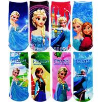 12 pairs / Lot Frozen Children Sock Infant Warmer Socks For 2-5 Years Toddler Baby Boys & Girls Wholesale, B348