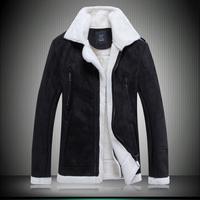 Winter men leather jacket mens fur coat keep warm jacket jaqueta de couro masculina veste cuir homme chaqueta cuero hombre 333