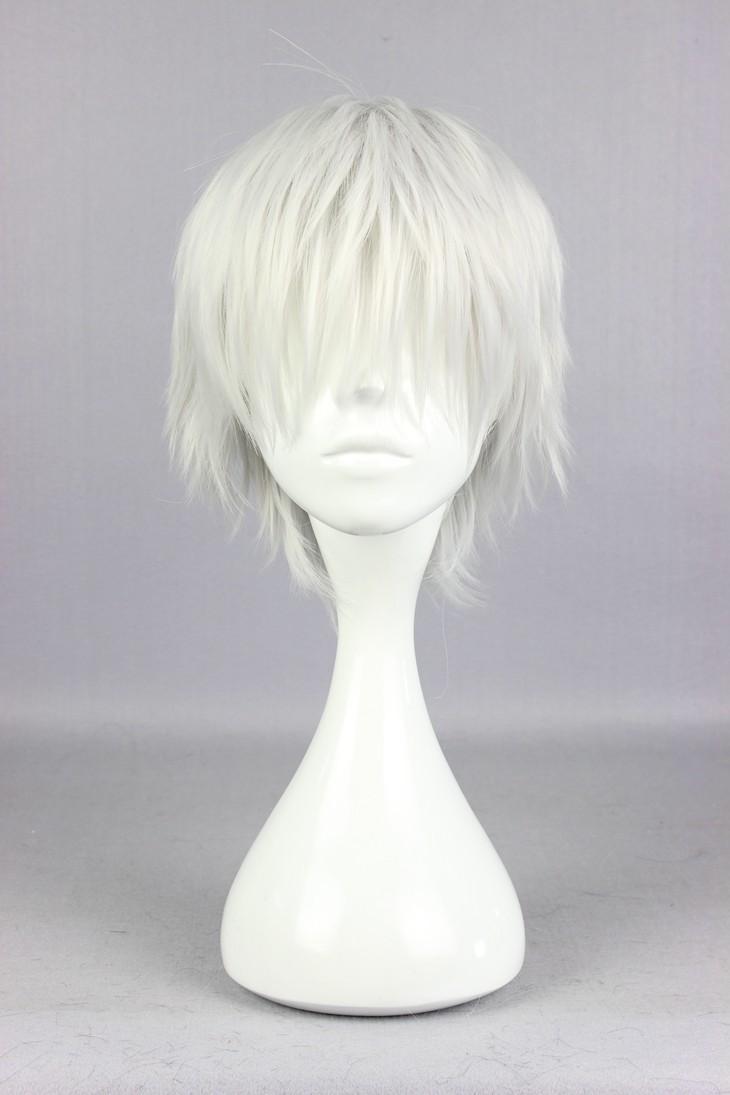 Гаджет  Free Shipping Popular Tokyo Ghoul Ken Kaneki 30cm Short Silvery Grey High Quality Synthetic Cosplay Wig None Волосы и аксессуары