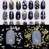 1000pcs/lot 2*2mm 3d Pyramid Shape Nail Art Decoration Metal Stud Rivet Glitter Tips Charms DIY Nail Tools #ND37