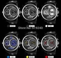 Free shipping 2015 fashion casual  Waterproof watch Men Electronic Wristwatches 6 Color---waw