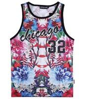 [Magic] 2015 new 3d vest Nice Peony flowers no sleeve vest women tanks sweat Active tank tops V62 size M-XXL free shiping