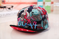 HOT The new korean alphabet BIA4 turn brimmed baseball cap, 2 colors Casual female hip-hop hat tide, Free shipping!