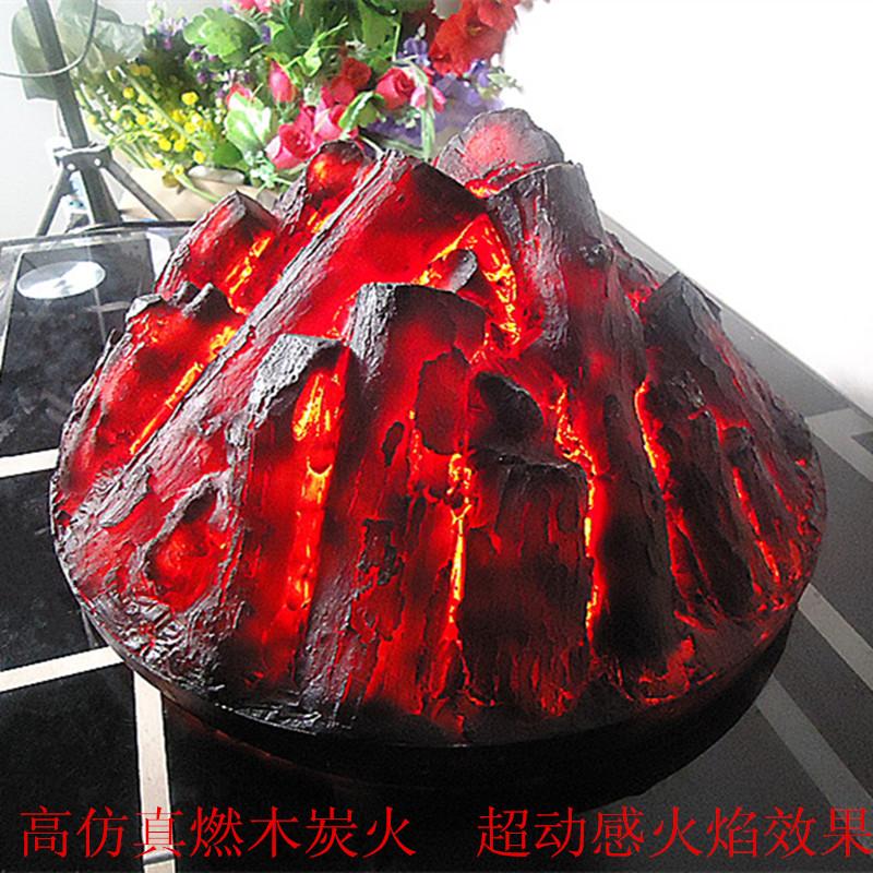 Decoração da de madeira bavin carvão lareira chama adereços(China (Mainland))