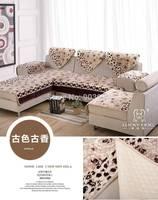 Free Shipping-Antique style-Eur flannel winter thick cushion sofa cushion plush fabric slipcover sofa towel