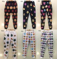 [Magic] 2015 Top Hot 3D Pants Smile Face/Animal/Leafs/Tree/Diamond Whole Clothing print casual pants trousers P22-P32 free ship