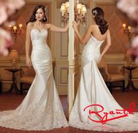 Vestido De Noiva Praia Fashionable Wedding Gowns 2015 Bride Dress Sexy Mermaid Wedding Dress Vestido Longo De Renda RBW250