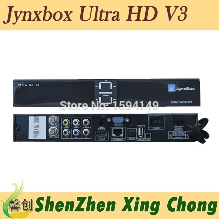 receptor satellite digital hd JynxBox Ultra HD V3 fta hd receiver Jynxbox v3 fta satellite receiver(China (Mainland))
