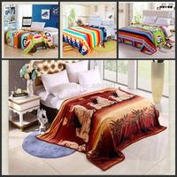 Hot! 13 color warm upgrade flannel thickened coral fleece blanket nap blanket cloud mink cashmere sheet sheet 150*200