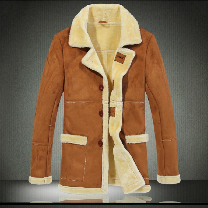 Зимняя модель мужской куртки из замши
