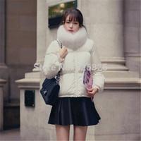 New 2014 Hot Europe Winter Women Down Jacket Slim White Duck Down Fur Collar Short Length Zipper White Fsahion Warm Cloth Coat