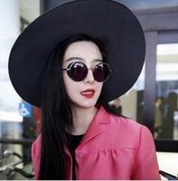 Vintage circle sunglasses female sunglasses star style male