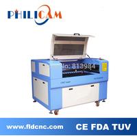 Philicam 10% discount 60w/80w CO2 laser machine 6090/wood laser cutting machine