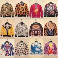 2015 Sweatshirts For Men/women 3D Sweatshirts Hoodies Sportswear 3D Stereoscopic Animal Pattern Hoodies Sweatshirts Pullovers