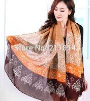 Autumn and winter oversized women's long scarf fluid silk scarf dual cape muffler scarf