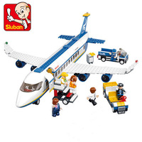 Sluban Aviation Air Bus Oversized Airplane Plastic Building Block Set Educational Toys Aircraft Series Enlighten Plane Bricks