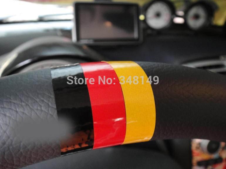 Car Styling Steering wheel sticker German flag for Volkswagen skoda octavia benz passat b5 vw golf 4 tiguan(China (Mainland))