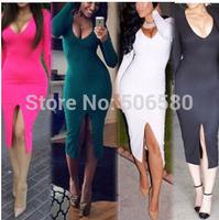 1Pcs Retail,Free Shipping Sexy Women Clubwear Tight Dress Sexy Lady Dress 4 Colors with size S-XXXL