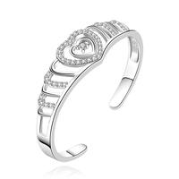 Fashion Luxury Women Men Jewelry 925 Sterling Silver Bracelets Jewelry New Fashion Love Bracelet Diameter 6.2 cm Wholesale