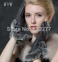 GSG   Ms.     Rex  wool   thick warm autumn and winter sheepskin  gloves   IGSSFW12193