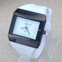 Individuality Big Strap Large Dial Silicone Sport Fashion Men Man Rubber Quartz Analog Wrist Watches
