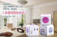 Free shipping genuine PowerCube module square cube socket wiring board extended wireless USB power socket insert plate