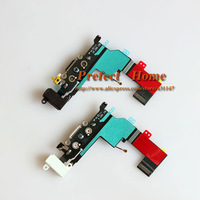for iPhone 5S Dock Connector Charging Port Flex Cable with Headphone Jack Flex Cable Combined White and Black