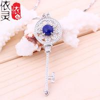 5 silver inlaid Lapis T classic home key pendant 5A natural gourmet emperor lapis lazuli pendant wholesale manufacturers