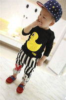 2014 NEW fashion Korean Children Cartoon Rubber Duck sleeved T-shirts babys clothing kids Tops Tees shirts Free shipping