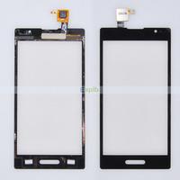 100% Original Black Glass Touch Screen Digitizer for LG Optimus L9 P760 with Flex Cable 50pcs/Lot