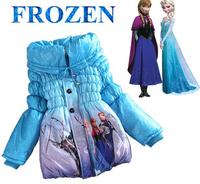 Frozen coats girls princess winter warm Coat For Girls cotton padded frozen jacket girls outerwear Children down 4 color