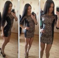 Wholesale 2014 Top Quality Women sexy print o neck long sleeve long lace dress party dress celebrity dresses