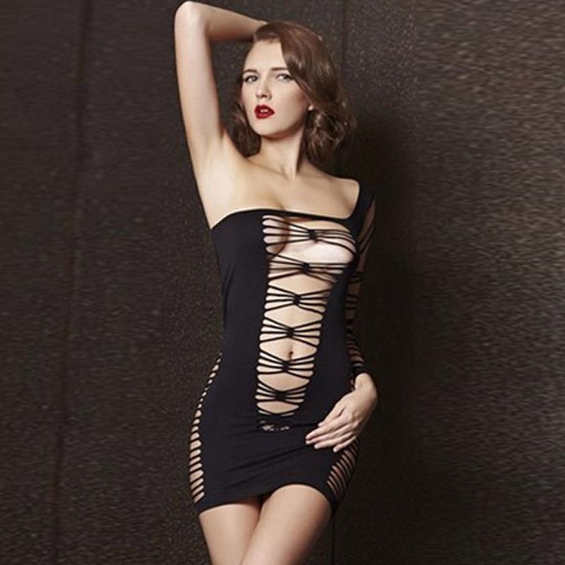 Woman black lace sexy