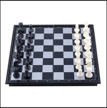 2014 günstigste heißer Verkauf Mini Reise magnetisches Schachspiel Schachbrett tragbare falten Bord Spielzeug und Schach Spiele Freies Verschiffen D0029(China (Mainland))