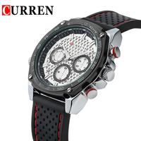Fashion Rubber Men's Sport Quartz Analog Wrist Watch Waterproof Jelly Men Dress Clock Military Watches for Male