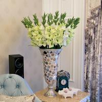 Decorative flowers gladiolus simulation High simulation orchid flowers High copy gladiolus sitting room put flowers