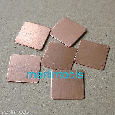 6Pcs DV2000 DV6000 DV9000 F500 F700 TX1000 Copper Shim(China (Mainland))
